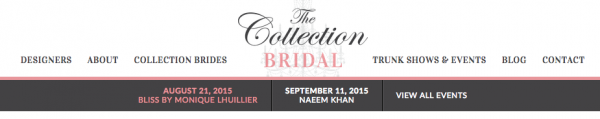 The collection bridal website