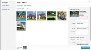 Wp image upload screen shot to earn seo